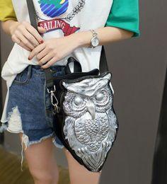 Wholesale Owl Handbag Backpack - sales handbag fashion personality stereoscopic 3 d women backpack quality leather shoulder bag, the owl tide shells punk leather shoulder ba