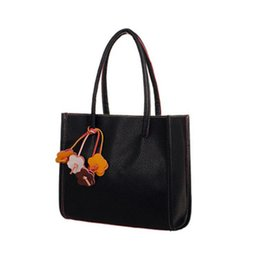 Wholesale Leather Tote Bags Wholesale - Wholesale- girls handbags leather shoulder bag candy color flowers totes bolsa de ombro borsa a tracolla saco de mulheres borsa donne