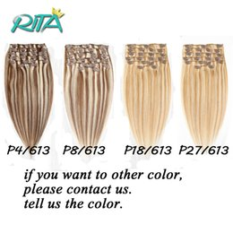 Wholesale European Hair Clips Remy - 16-28inches Clip In Brazilian Straight Remy Human Hair 70-200g 4Colors Clip In Remy Human Hair Rxtensions