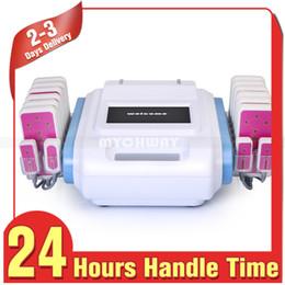 diodo laser 16 pads Desconto Lipoaspiração de venda quente 160mw 16 Pads Diodo Lipo Laser Queima de Gordura Redução de Celulite Corpo Máquina De Emagrecimento