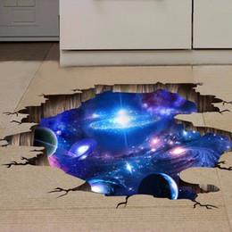 Adesivi murali 3D Space Planet di 4 stile per camera da letto per bambini Galaxy Stickers muraux muursticker decalcomanie da parete in vinile poster da