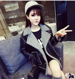 Wholesale Cheap Winter Ladies Coat - New Style Fashion Korean Winter Lady Lovely Girl Loose Warm Black Princess Leather Lambs Wool Brief Lambs Wool Cheap Relaxed Noble Fur Coat