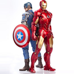 Wholesale Iron Man Doll Toy - The Avengers Action Figures Super hero Action Figure Iron Man Captain America action Figures Children Toys Dolls Kids gifts
