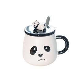 Wholesale Panda Tea - Creative Panda Animal Ceramic Mug Coffee Tea Milk Stave Cups with Handle Coffee Mug Novelty Gifts 2017 Cups and Mugs