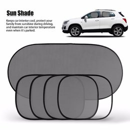 Wholesale Cars Windshield Shade - Hot Sale Black Car Window Sun Shade Car Windshield Visor Cover Block Front Window Sunshade UV Protect Car Window Film 5 Piece