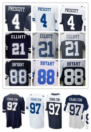 Wholesale Mens American Football Jerseys - 4 Dak Prescott 21 Ezekiel Elliott 82 Jason Witten 88 Dez Bryant 97 Taco Charlton Mens Elite Stitched American Football Jerseys