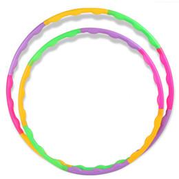 Wholesale Kids Aerobics - Wholesale- 55CM Adjustable Colourful Kid Hula Hoop Child Sports Aerobics Fitness Gymnastic