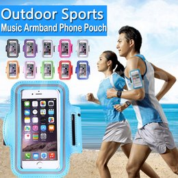 Wholesale Card Armband - For Iphone 7 6 6s Plus Universal Armband Waterproof Sports Running Case bag workout Armbands Holder Pouch For Samsung Cell Mobile Phone