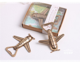 "Wholesale Baby Beginnings - ""Let the Adventure Begin"" Airplane Bottle Opener wedding favors party gift giveaway centerpiece supplies baby shower"