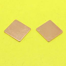 Wholesale Copper Vga Heatsink - Wholesale- TL-099 15x15x1 mm DIY Copper Heatsink Shim Thermal Pad Heat Sink Sheet For Laptop GPU CPU VGA Chip RAM cooler cooling