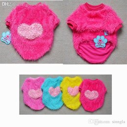 Wholesale Wholesale Luxury Dog Products - Wholesale-Clothes Winter Luxury Fashion Heart Sweater For Small Dogs 2015 New Pets Products Clothing,5PCS