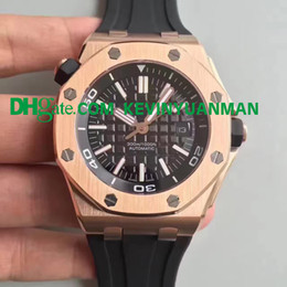 Wholesale Silver Water Proof Watch - AAA Luxury brand water proof AAAUDEMARS PPIGUET Royal Oak Offshore Rubber band automatic movement Silver Dial Men's Watch