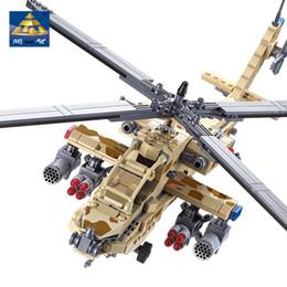 Wholesale Apache Ah - Kazi 84020 658pcs Ah-64 Apache Military Army Aircraft Helicopter Model Lepin Compatible Blocks Kids Educational Toys