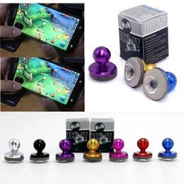 Wholesale Newest Universal Mini Mobile Joystick Joysticks Samrtphone Game Rocker Touch Screen Joypad Controller For iPad iPhone Samsung Free DHL