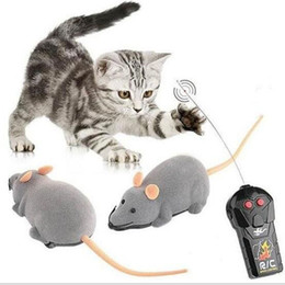 Wholesale Wholesale Mice Rats - 3 Colors Remote Control Electronic Wireless Rat Mouse Cat Pet Gift Funny Toy Mourse Ears Random