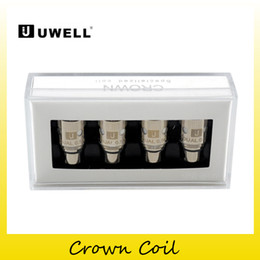 Wholesale Free Crowns - Authentic Uwell Crown Coil Sub Ohm Head 0.15ohm Ni200 TC 0.25ohm 0.5ohm 1.2ohm coils for Uwell Crown tank Smok TFV8 DHL free 2231004