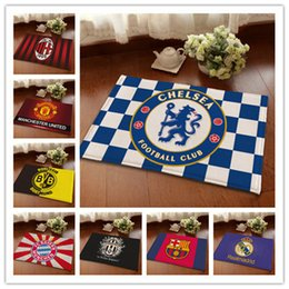 Wholesale Wholesale Rugs Carpets - Floor Mats Chelsea Football Team Fans Souvenir Carpets Soccer Rugs Team Badge Car Room Floor Rug 3 Sizes To Choose