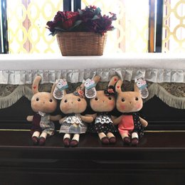 Wholesale Toy Eyeballs - Grandlux Of Rabbit Doll Cloth A Doll Rabbit Rabbit's Hair Down Toys Doll Children's Day Pillow Birthday Gift