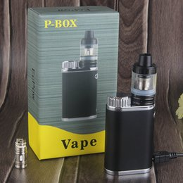 Wholesale Plastic Boxes Sale - New Design Vape Mods Starter Kit 50W P Box 2ml Top filling sub 0.3ohm atomizer 18650 cell eCig Mods for sale