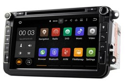 Wholesale Stereo Dvd Vw Golf - Android 5.1 Car DVD Player Stereo GPS For VW Skoda POLO GOLF PASSAT CC JETTA with Quad Core 16GB 1024*600 (including canbus)
