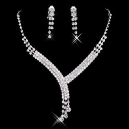 Wholesale Diamonds Settings - Hot Sale New Styles Statement Necklaces Pearl Sets Bridesmaids Jewelry Lady Women Prom Party Fashion Jewelry Earrings L001