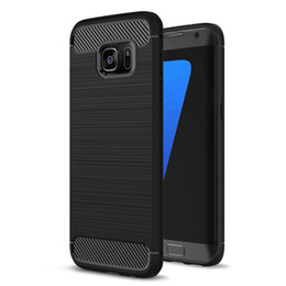 Wholesale Iphone Mobile Phone Covers - Carbon Fiber Case for Samsung Galaxy S8 Plus S7 edge For iPhone 7 Plus 6 6s 5 5S SE Cover Soft TPU Shockproof Protective Mobile Phone Bags
