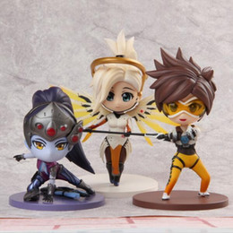miniature ship models Promo Codes - Tracer Mercy Widowmaker Cute Lovely Game Model Toys for Animation Collection Miniature Figurine Action Figure Free Shipping