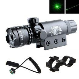 Wholesale Gun Mounted Tactical Laser - New Tactical Hunting rifle Green Laser Sight Dot Scope Adjustable w  Mount light Gun Free Shipping