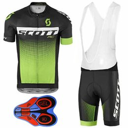 Wholesale Scott Bike Clothing - 2017 Scott Tour De France Cycling Jerseys Short Sleeves Bike Wear Quick Dry 9D Gel Pad Compressed Bike Wear XS-4XL Bicycle Clothing