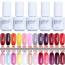 Wholesale Gel Color Nails Tips - High quality Gelish Nail Polish Soak Off UV LED Gel Solid Pure UV Gel Nail Art Tips Design Nails One Step Gel Nail Polish 168 Color 5ml