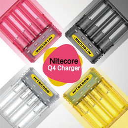xtar зарядное устройство vc4 Скидка Аутентичные Nitecore Q4 зарядное устройство 2000mA 2a быстрая зарядка 4 отсека Inteligent 18650 20700 21700 зарядное устройство 100% оригинал