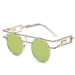 Wholesale Woman Coat Legging - Fashion Round Steam Punk Goggles Sunglasses Women Hollow Coating Metal Frame Vintage Sunglasses Metal Legs Eyewears 6Pcs  lot Free Shipping