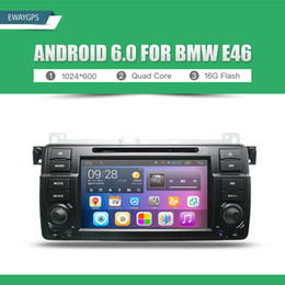 Wholesale Gp Navigation - Android 6.0 Car DVD For BMW E46 car multimedia android Radio Stereo GPS Navigation Quad Core Bluetooth WIFI Radio EW801P6QH
