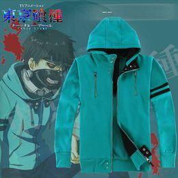 Wholesale Hats Stand - Tokyo Ghoul hoodies Kaneki Ken cosplay sweat shirt Hat clothing coat Outdoor sport jacket Unisex cartoon sweatshirts
