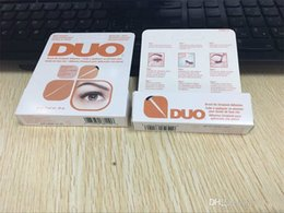 Wholesale New arrival DUO Eyelash Adhesives Eye Lash Glue brush on Adhesives vitamins white clear black g New packaging makeup tool