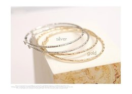 Wholesale 18k Jade Ring - Latest Fashion Bamboo Pattern Large Circle Ring Pierced Earrings Simple Personality Jewelry Factory Direct