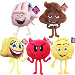 2019 emoji plush Le Emoji Film Peluches Peluches Poupées Peluches Jouets pour Enfants Poo Diable Enfants Noël Cadeaux Enfants Peluches OTH562 emoji plush pas cher
