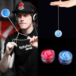 1pcs clignotant LED Glow Light Up YOYO Party Colorful Yo-Yo Toys pour enfants Boy Gift IG Kids Magic Jling Toy auldey yoyo à partir de fabricateur