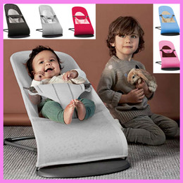 Wholesale Fold Lounge Chair - Portable High Quality Infant Baby Folding Bed Cradles Newborn Rocking Chair Swinging Lounge Balance Chair Recliner 0~2 Y