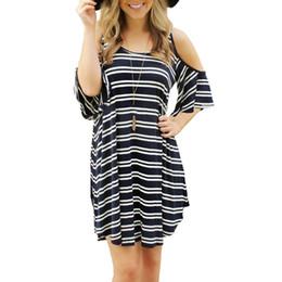 Wholesale Children S Strapless Dresses - 2016 Summer Autumn New Pattern European Suit-dress Stripe Strapless Easy Dress F0715
