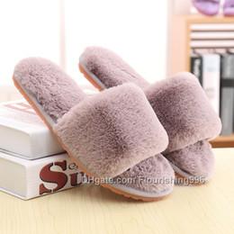 zapatilla precio más bajo Rebajas El precio más bajo ! Zapatillas de mujer dedo del pie abierto suave cómodo felpa Zapatillas de deporte del invierno y el otoño de alta calidad Moda mujer