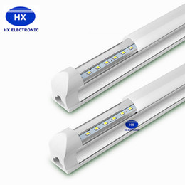 Wholesale Tube Lights Covers - Led T8 Integrated Tubes 2 3 4 ft 22W T8 Tube Light SMD2835 High Bright Tubes Frosted Transparent Cover AC85-265V Led Fluorescent Bulb