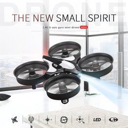Wholesale Rc 12 Motor - Mini Drone RC Quadcopter NH010 2.4G 6-Axis Gyro 9.5*5CM Headless Mode One Key Return Helicopter Toy For Kid VS H8 H36 Mini Drone