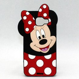 Wholesale Cute Note Casing - For Samsung note 8 J3 J5 J7 2017 S8 S8 plus G530 J3 prime 3D cute MICKY MINNIE silicone phone back cover case
