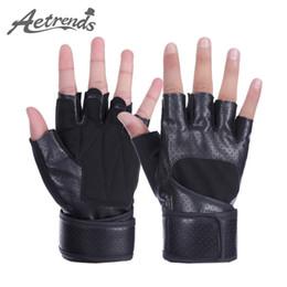 Wholesale Tactical Gloves Leather Half Finger - Wholesale- [AETRENDS] Half Finger Gym Gloves Sports Tactical Gloves Z-2948