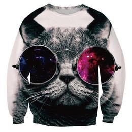 Wholesale Lazer Top - Wholesale-YNM Grumpy Knight DJ Fat Stacks cats crewneck 3d dollars ocean Top Gun Awesome Lazer Kitty Zilla full sleeve hoodies sweatshirts