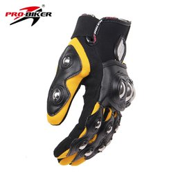 Wholesale luvas pro biker - Wholesale- PRO-BIKER Men Motorcross Off-Road Full Finger Racing Gloves Motorcycle Riding Gloves Guantes Luvas Protection Hands Moto Gloves