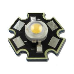 Wholesale 1w Led Heatsink - Wholesale- 500pcs High Power 120LM 1W 30mil 3.4V 350mA Warm White 3000K~3500K LED Diodes Emitter Light Bulb part + 20mm Star Base Heatsink