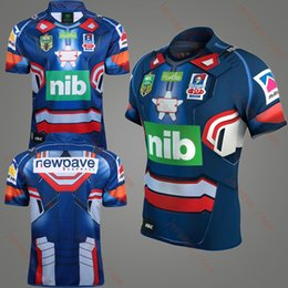 Wholesale Patriots Shirts - Free shipping Newcastle Knights 2017 NRL Iron Patriot Marvel Ltd Edition Rugby Shirt 17 18 Newcastle Knights rugby jerseys