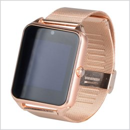 Wholesale smart phone remote support - Z60 Bluetooth Smart Watch Phone Z60 Stainless Steel Support SIM TF Card Camera Fitness Tracker Smartwatch for IOS Android Phone MQ20